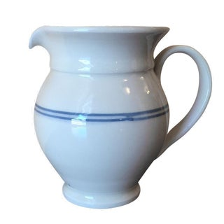 Lebanese White Ceramic Pitcher