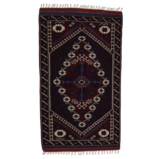 "Bergama Hand Knotted Rug - 3'4"" X 5'10"""
