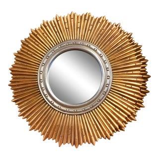 Sunburst Porthole Beveled Wall Mirror