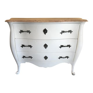 Marble Top French Country Chest