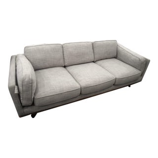 Gray & Beige Down Stuffed Sofa