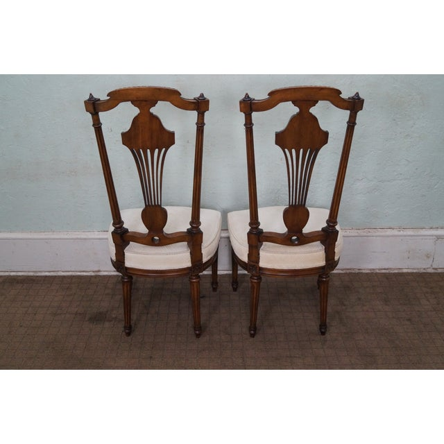 Karges Walnut French Style Walnut Dining Chair - 4 - Image 4 of 10