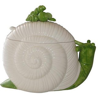 Fitz & Floyd Palm Beach-Style Snail Centerpiece