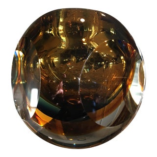 Vintage Italian Flavio Poli Sommerso Faceted