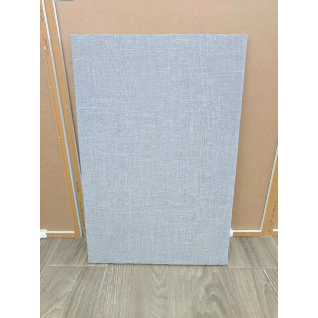 Gray linen cork board chairish for Linen cork board