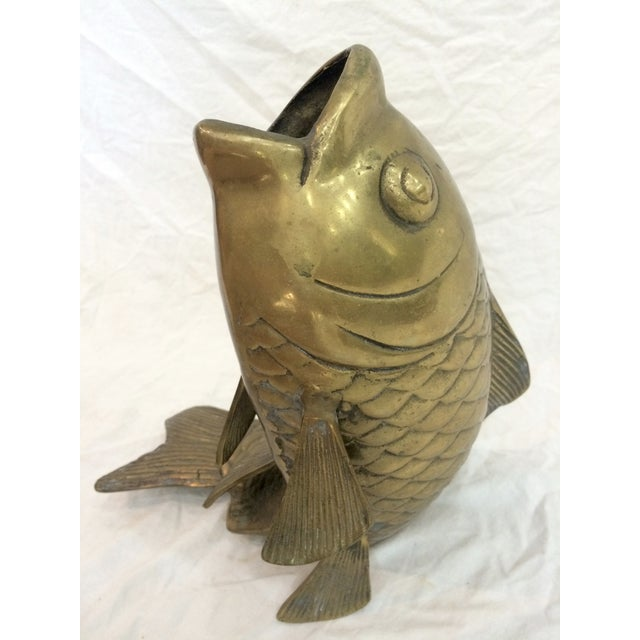 Image of Brass Fish Vase