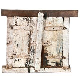Rustic Vintage Wood Shutters - A Pair