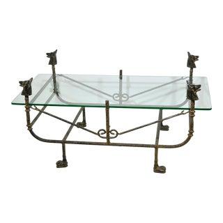 Giacometti Style Wrought Iron Coffee Table