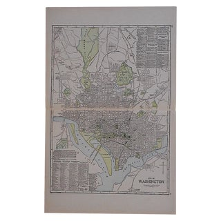 City Map Lithograph - Washington, DC