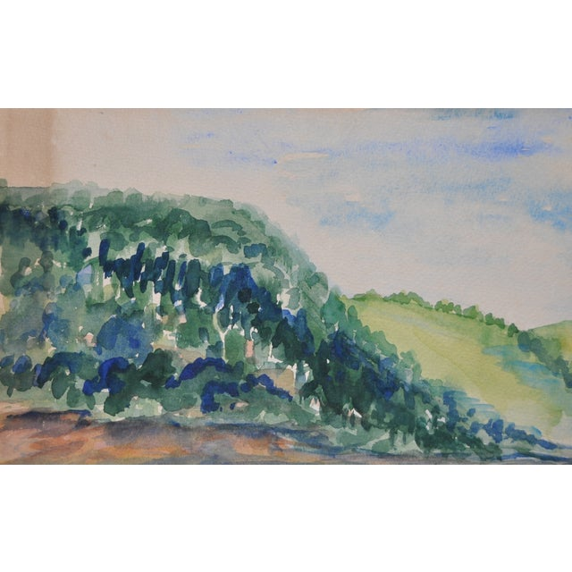 Image of Orignal Watercolor by Frances Wells C.1950's