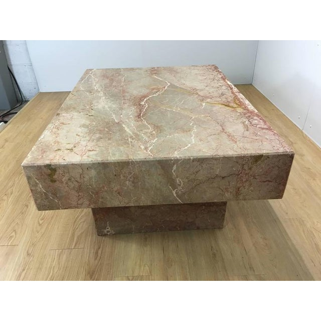 Substantial Rectangular Marble Cocktail Table - Image 4 of 7