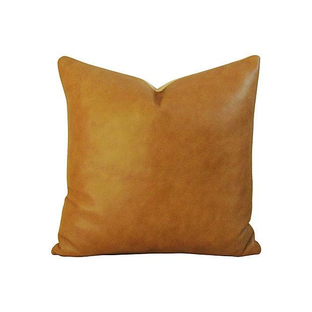 Image of Genuine Italian Leather Pillows - Pair