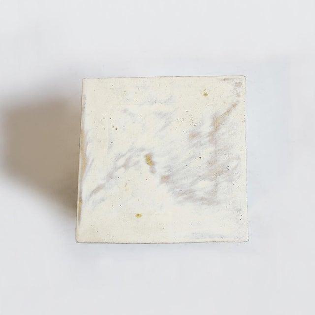 White Ceramic Garden Stool - Image 2 of 2