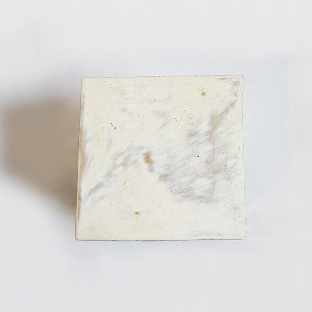Image of White Ceramic Garden Stool