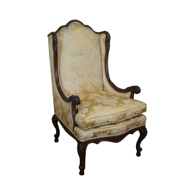Louis XV Carved Walnut Wing Chair - Image 1 of 10