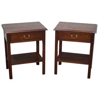 Stickley Traditional Cherry Nightstands - A Pair