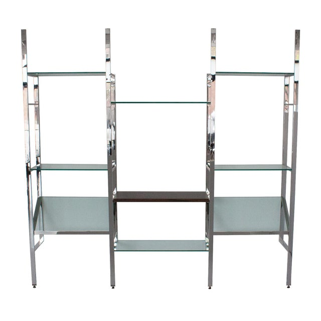 Milo Baughman Wall Mounted Shelving System - Image 5 of 10