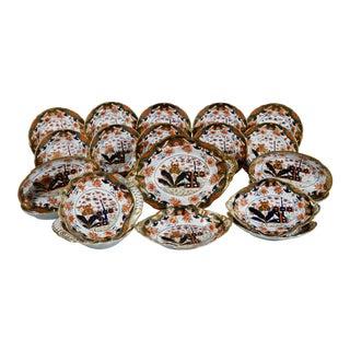 Regency Spode 967 Pattern Porcelain Dessert Service, Twenty Two Pieces, Circa 1807-15