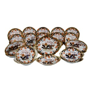 Regency Spode 967 Pattern Porcelain Dessert Service, Twenty Two Pieces, Circa 1807-15