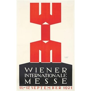 1921 Austrian Art Deco Poster