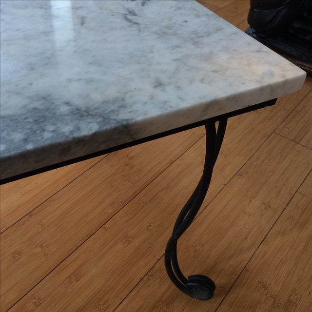 Marble Coffee Table With Metal Legs: Marble & Metal Coffee Table