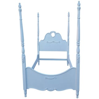 Four Poster French Style White Bed