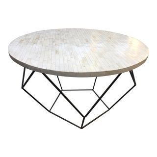 West Elm Octagon Bone Inlay Side/Coffee Table