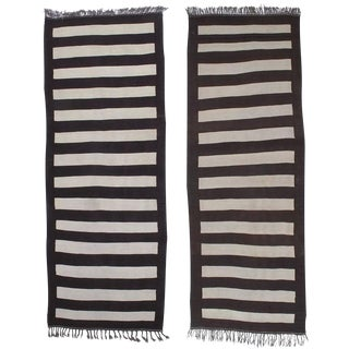 Pair of Banded Kilim Wide Runners