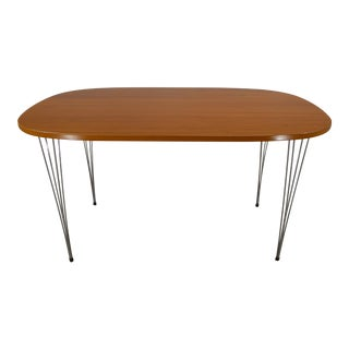 Danish Modern Piet Hein-Bruno Mathsson-Arne Jacobsen Super Ellipse Dining Table