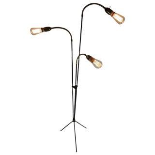Mid-Century Articulating Tripod Floor Lamp from Denmark