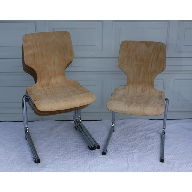 Image of 1960s West German Pagwood Chairs- Set of 4