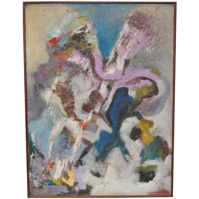 Vintage 1960's Abstract Painting - Image 1 of 4