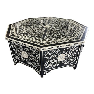 Faux Inlaid Bone Cocktail Table