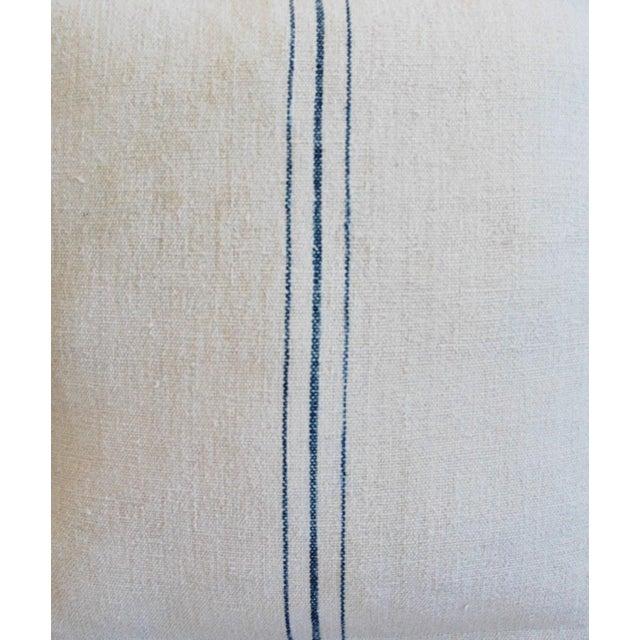 Vintage French Grain Sack Textile Pillows - A Pair - Image 4 of 10