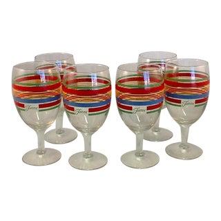 Vintage Fiesta Ware Goblets - Set of 6