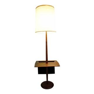 Laurel Mid-Century Floor Lamp With Table & Magazine Holder