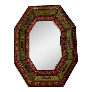 Spanish Painted Wooden Mirror