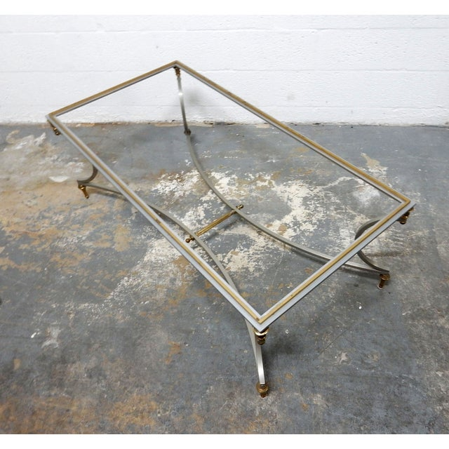 Vintage French Decorative Coffee Table With Brass - Image 11 of 11