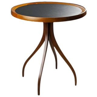 Sculptural Side Table with Leather Top Attributed to Edward Wormley, 1950s