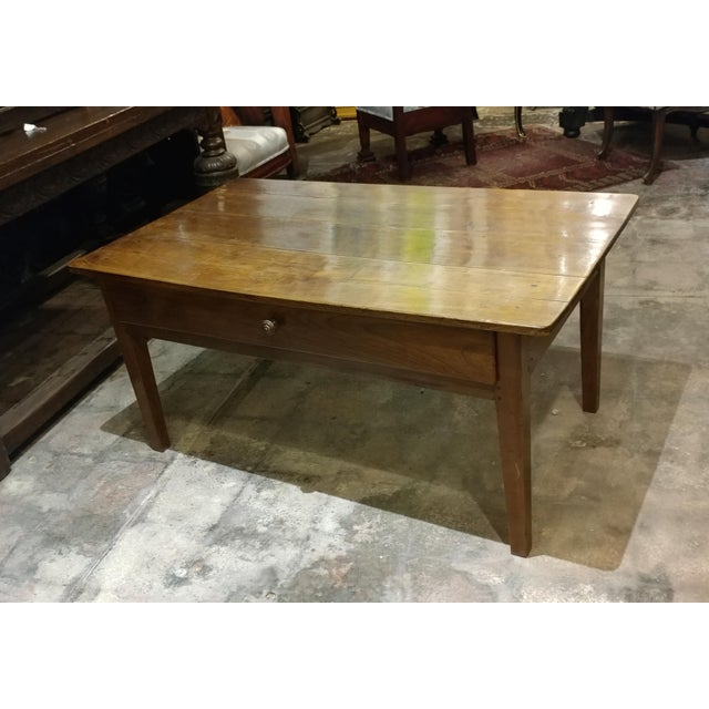19th Century French Farm Walnut Coffee Table - Image 2 of 10
