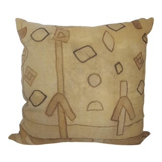 African Antique Kuba Cloth Pillow