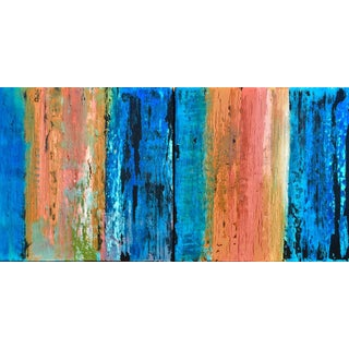 Original Contemporary Abstract Diptych Paintings by Alicia Dunn - a Pair