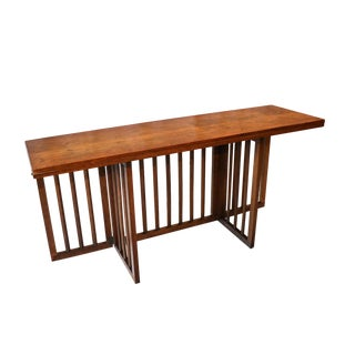 Mid-Century Modern Folding Console Dining Table