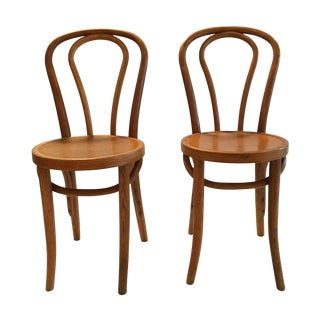 French Cafe Bentwood Thonet-Style Chairs - Pair