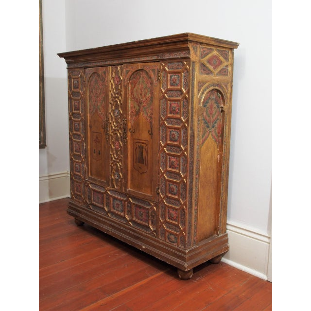 Italian Polychrome Two Door Cabinet - Image 11 of 11