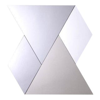 Geometric Grey, Bronze & Silver Mirrored Wall Tiles - Set of 4