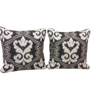 Ikat Tapestry Pillows - a Pair