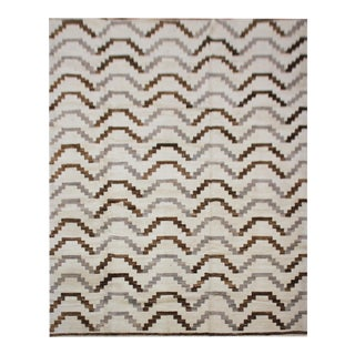 "Aara Rugs Inc. Hand Knotted Navajo Rug - 10'2"" X 7'6"""