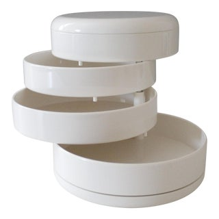 InterDesign White Plastic Desk Organizer New Old Stock Modern