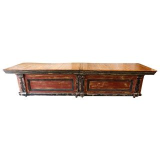 Large Vintage Wood Counter